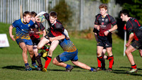 Rainey Endowed on the attack against Belfast High School in the Danske Bank Schools Cup.