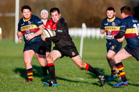 Limavady on the attack against Banbridge 2nd XV in the River Rock Towns Cup.