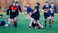 Banbridge on the attack against Limavady in their River Rock Towns Cup tussle at Limavady, the Roesiders eventually winning 34 points to 26.