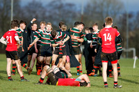 Cambridge House from Ballymena celebrate victory over Regent House in the 3rd round of the Danske Bank Schools Cup.